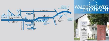 Waldenserweg Palmbach - Waldenserdenkmal